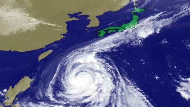 大型で強い台風25号は、沖縄県を暴風域に巻き込みながら北上しています。雲の動きと進路の予報です。 www3.nhk.or.jp/news/html/2018… #nhk_news #nhk_video