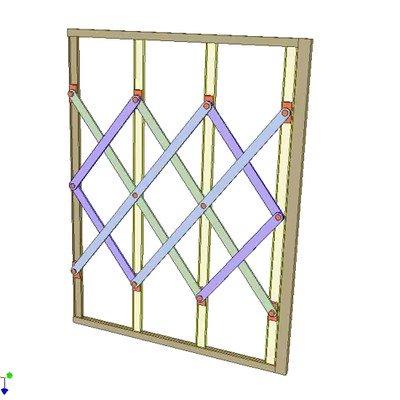 Folding Scissor Gate