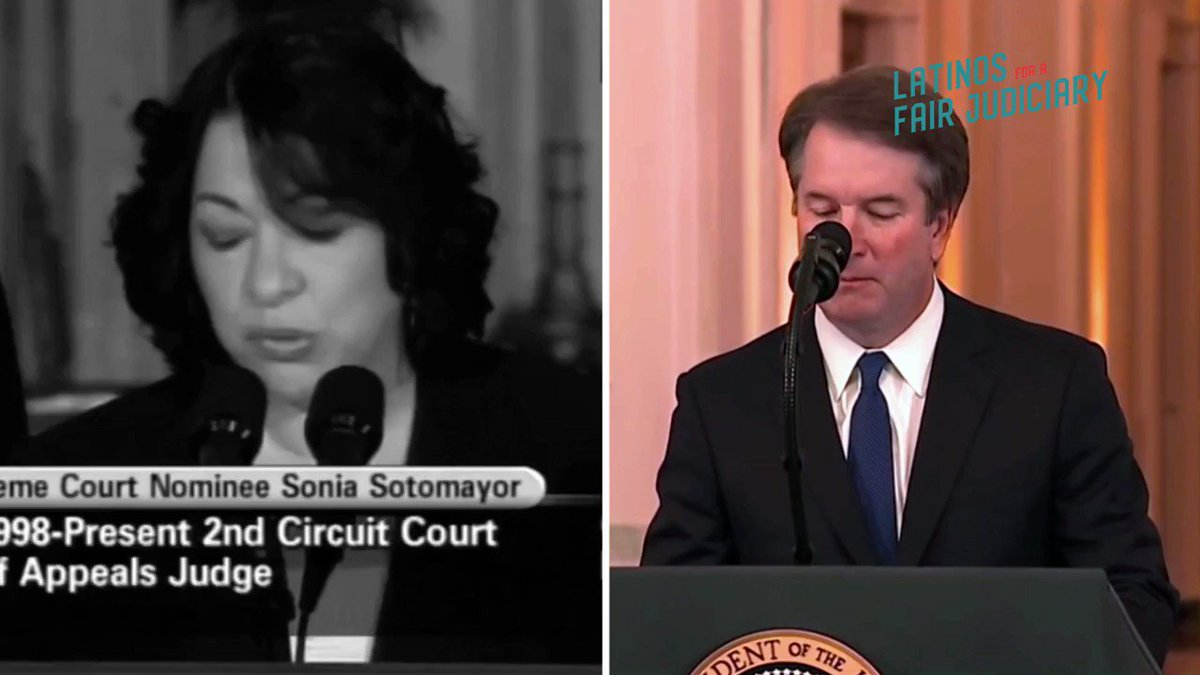 Voto Latino On Twitter There Is A Stark Difference Between The 2nd Circuit Court Of Appeals Sotomayor Confirmation Hearings And Kavanaughconfirmation