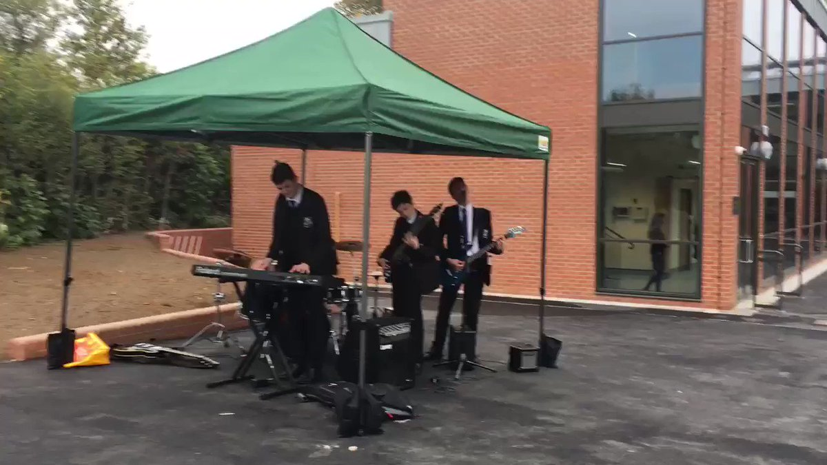 Don't miss the band's set at Open Morning today! 🎤🥁🎹🎸🎼