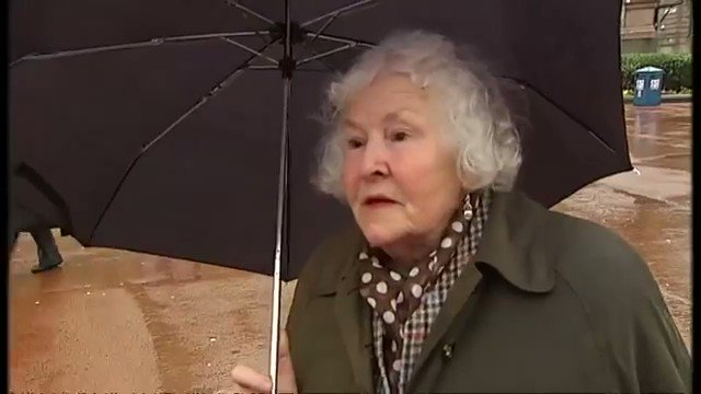 A Scottish woman reacts to the death of Margaret Thatcher.