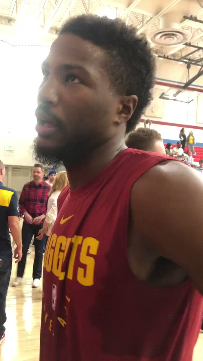 Malik Beasley says he's been trying to get 5k shots up every day @Mbeasy5 #nuggets #FanFest @nuggets ������ https://t.co/cayLf4iXkk