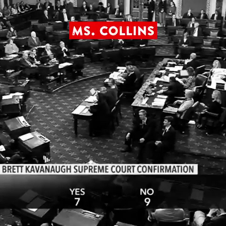 Susan Collins, we haven't forgotten. We're going to replace you.