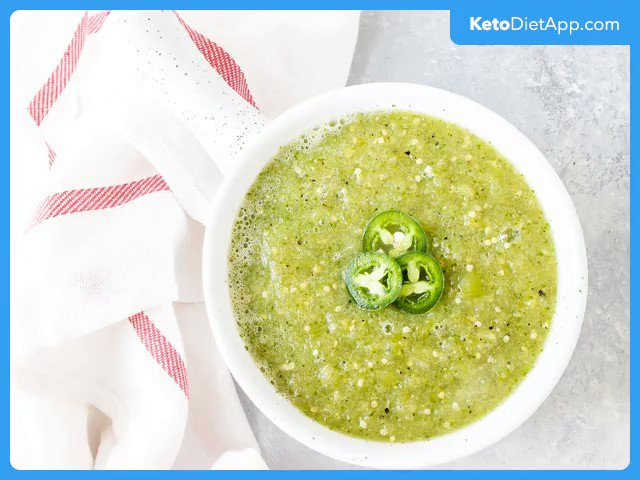 #healthy #mexican #salsa Verde  Salsa Verde, also know as green salsa made #keto friendly. Adds a wonderful Mexican flavour to your favourtie #ketogenic dinner recipe.   https://ketodietapp.com/Blog/lchf/healthy-homemade-salsa-verde…  #lowcarb #ketodietapppic.twitter.com/wd9KQ8PaKE