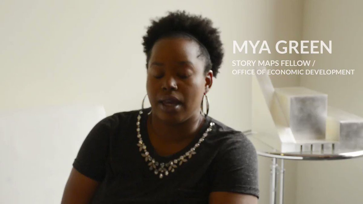 Image for the Tweet beginning: Story Maps Fellow, Mya Green,