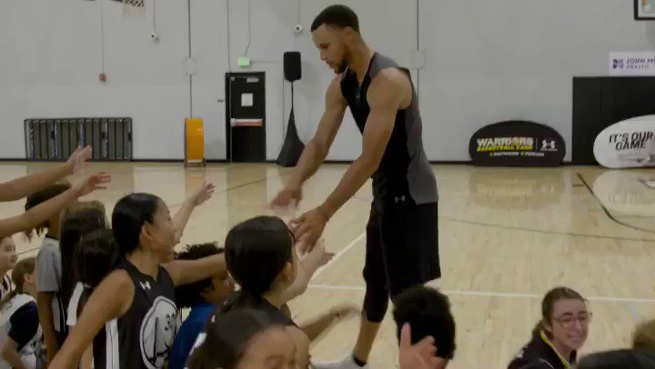 In honor of #JrNBAWeek, let's take a 👀 back to @StephenCurry30's It's Our Game Clinic! #HerTimeToPlay