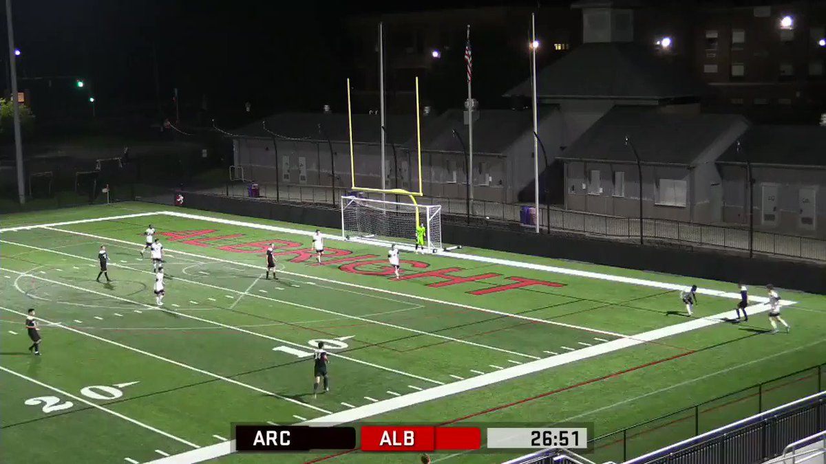 Absolute GOLAZO from @Arcadia_MSOC Daniel Tittlemayer in the first half against Albright tonight!! #SCTop10 @ESPNFC