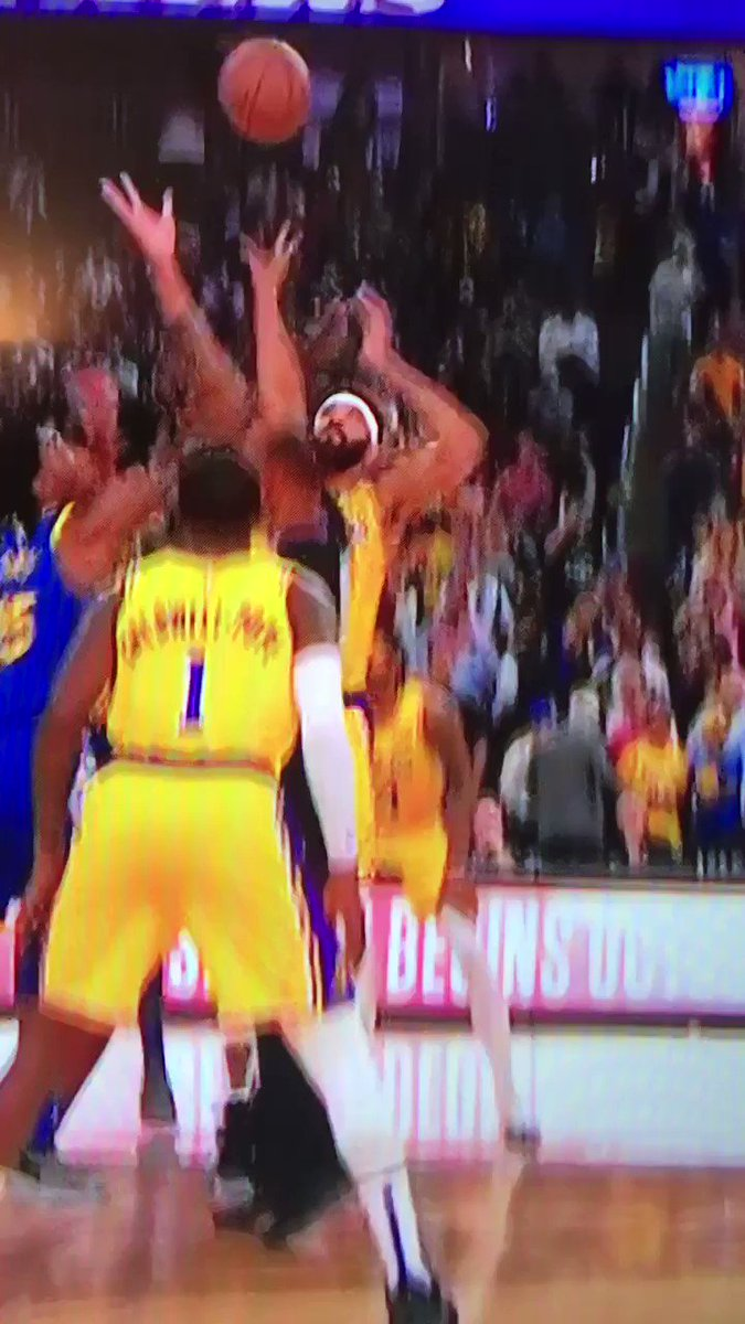 I think LeBron brought Rondo to LA just so they could do goofy stuff after the tip together
