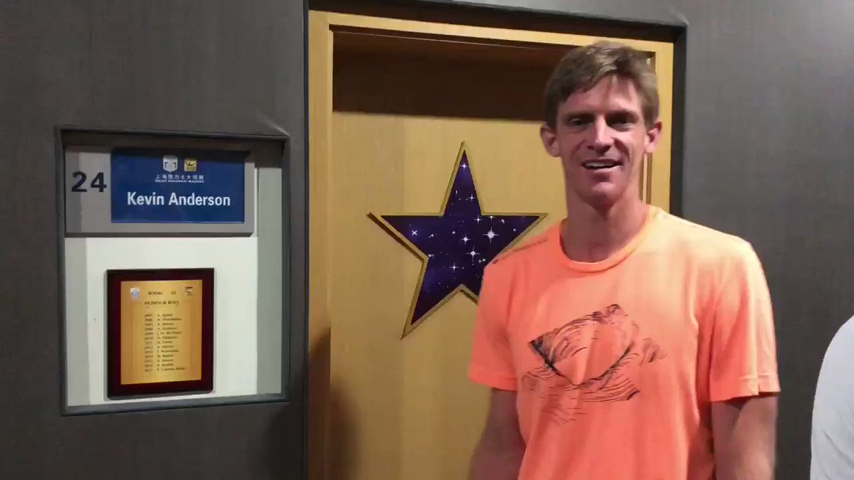 Take a look 👀 @KAndersonATP gives us a guided tour of his locker room at the @SH_RolexMasters...
