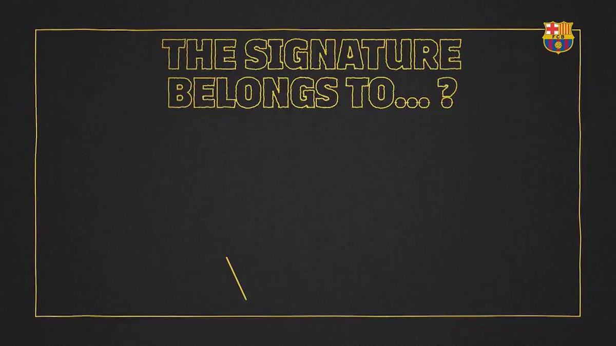 �� Whose signature is this? �� @JordiAlba  @samumtiti  @Phil_Coutinho https://t.co/3N1GV6wmOh