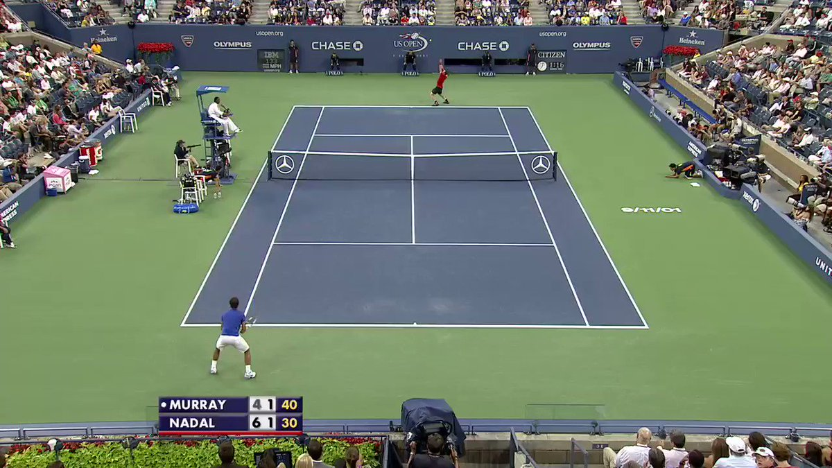 #USOpen After Dark: Sending a forehand winner down the line on the dead run... 🔥🎥: @andy_murray, 2011 SF