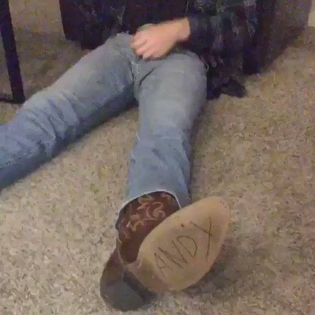 You absolutely cannot fall asleep with cowboy boots on
