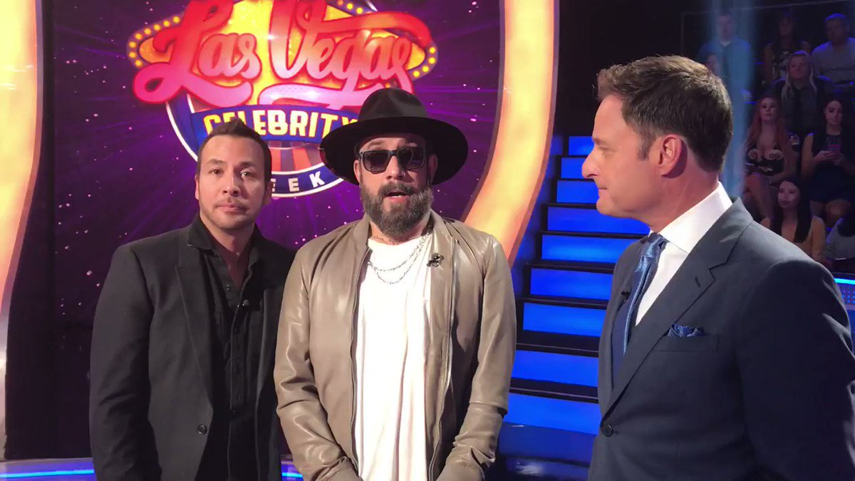 The boys are back! Catch @aj_mclean and @howied of the Backstreet Boys today on Millionaire!