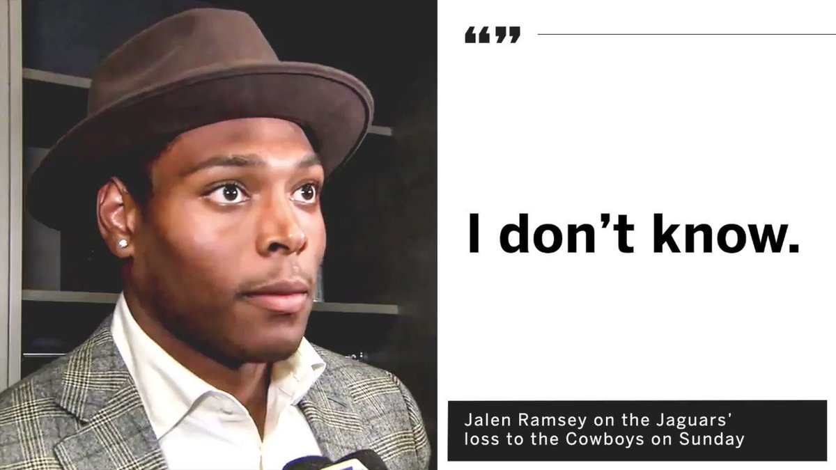 Jalen Ramsey was a man of few words after Sunday's blowout loss to the Cowboys. https://t.co/xaBdLlKS8s
