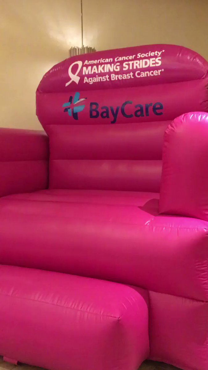 BIG. PINK. CHAIR. Come Get Your Picture Taken In Support Of @TampaStrides
