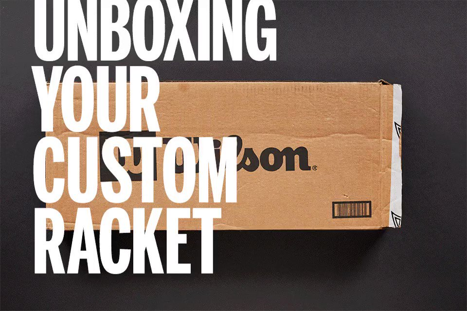 The Custom unboxing experience🔥 Customize your favorite racket today: bit.ly/2ylOg30