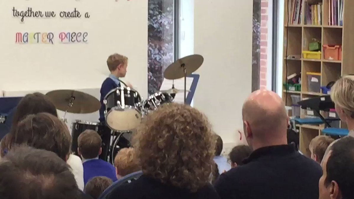 Amazing musical talent on show at the Year 5 Tea-Time Concert today. #LongacreLife #prepschool #drummer @PrepSchoolMag