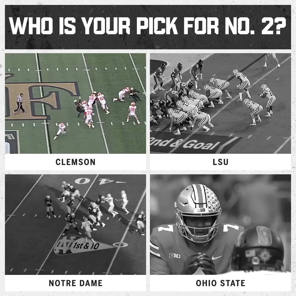 With Georgia falling, who should be No. 2?  America is going with the Buckeyes in the @CapitalOne Fan Vote. https://t.co/6aShAxjrLG