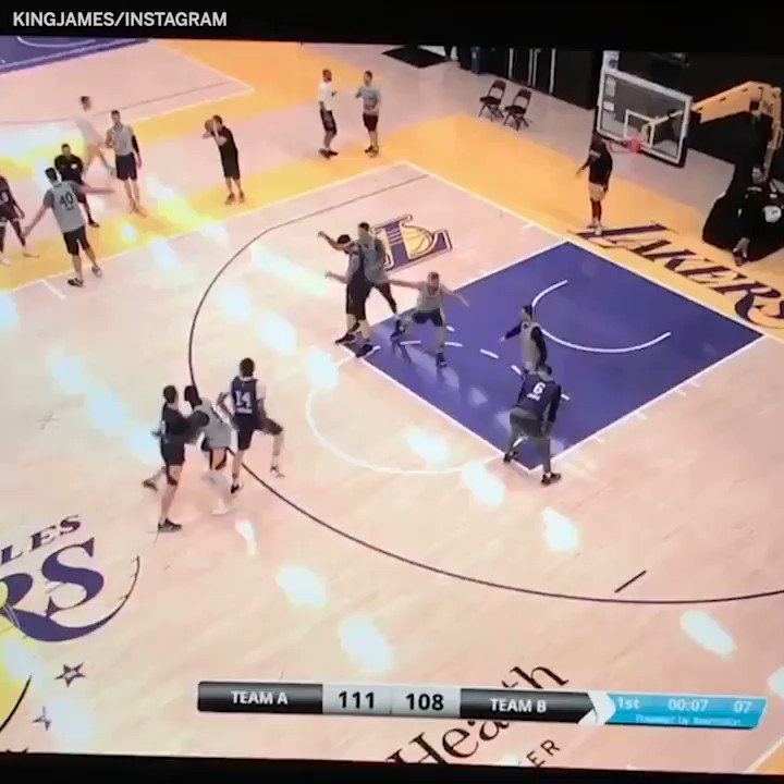 LeBron said Lance and Kuz were mad at him for this one �� (via @KingJames) https://t.co/cA6pEJIQHM