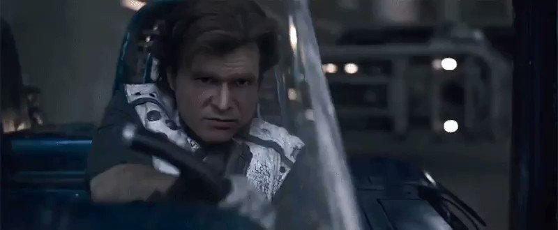 La película de Han Solo con Harrison Ford.