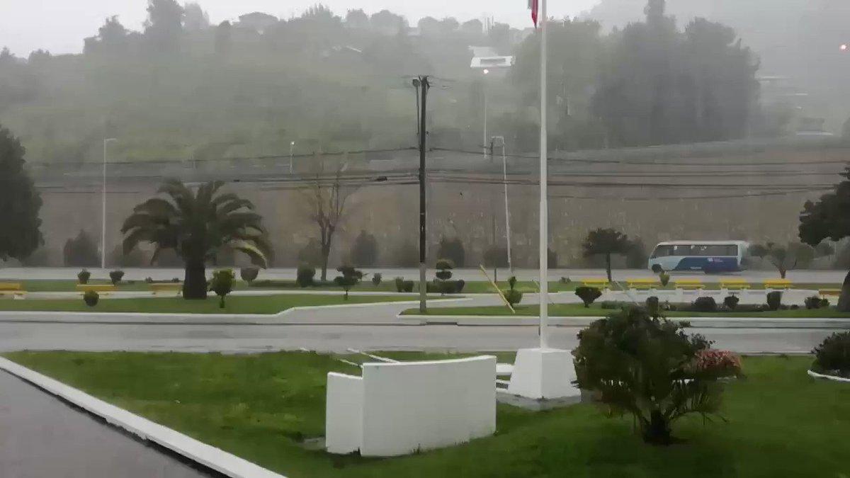RT @MetArmada_Thno Fuerte #lluvia 🌧🌧🌧 en #Talcahuano producto del #SistemaFrontal  Se prevé que está condición se mantenga durante todo el día   #ElTiempoCHV  @Armada_Chile  @meteochile_dmc  @AlvaroMolinaCL  @michelleadamv  @MeteoVIII  @reddeemergencia  @sitiodelsuceso  @EduardoTVT