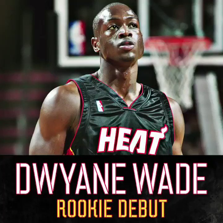 Game 1 of 1,159 (and counting).  This is where @DwyaneWade's legacy began. #WadeWednesday