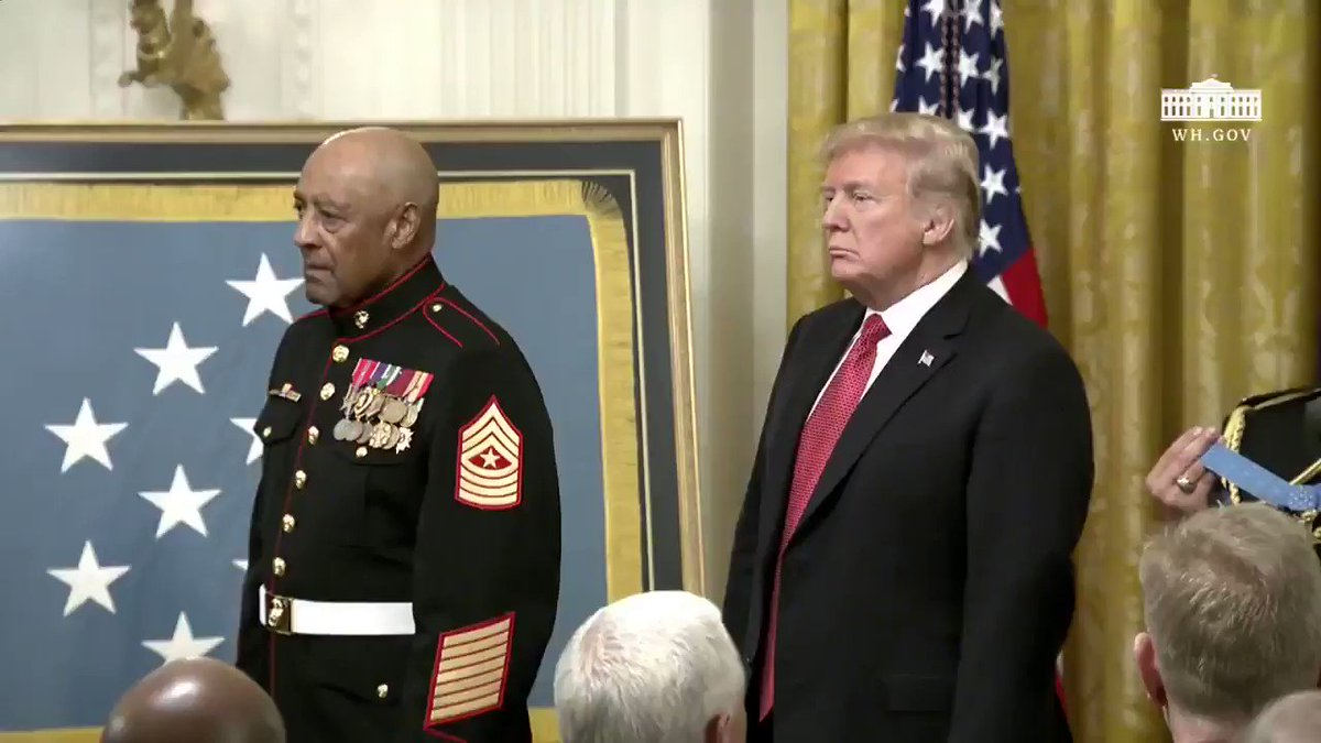 This afternoon, Sergeant Major John Canley became the 300th Marine to receive the Medal of Honor.