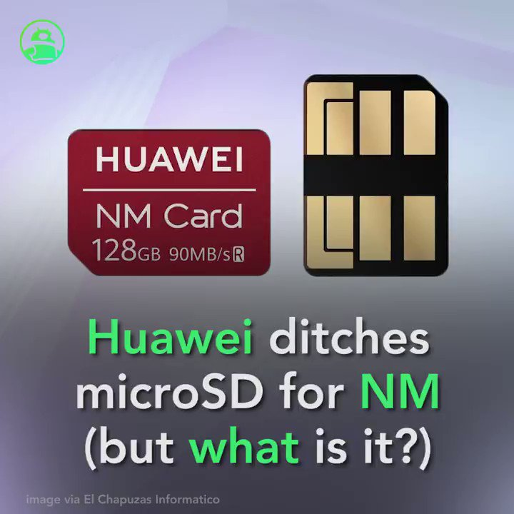 Image for the Tweet beginning: Huawei Mate 20 ditches microSD