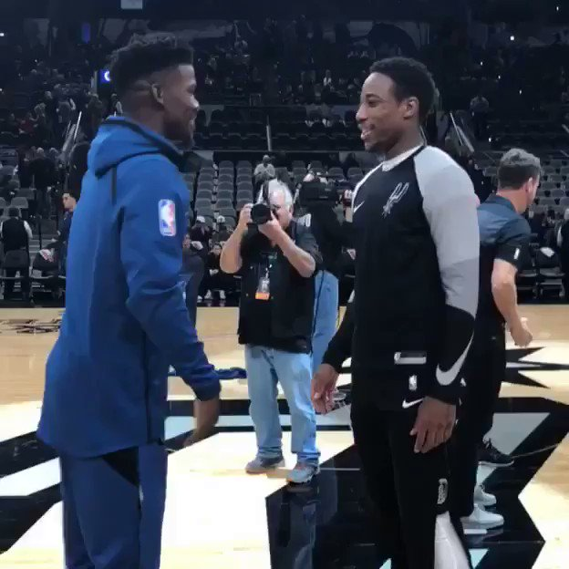 Jimmy Butler & DeMar DeRozan. https://t.co/Gr5h9PX112