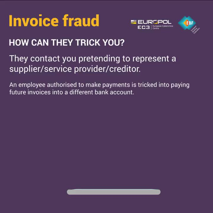 Image for the Tweet beginning: Tips for businesses: prevent #CyberScams