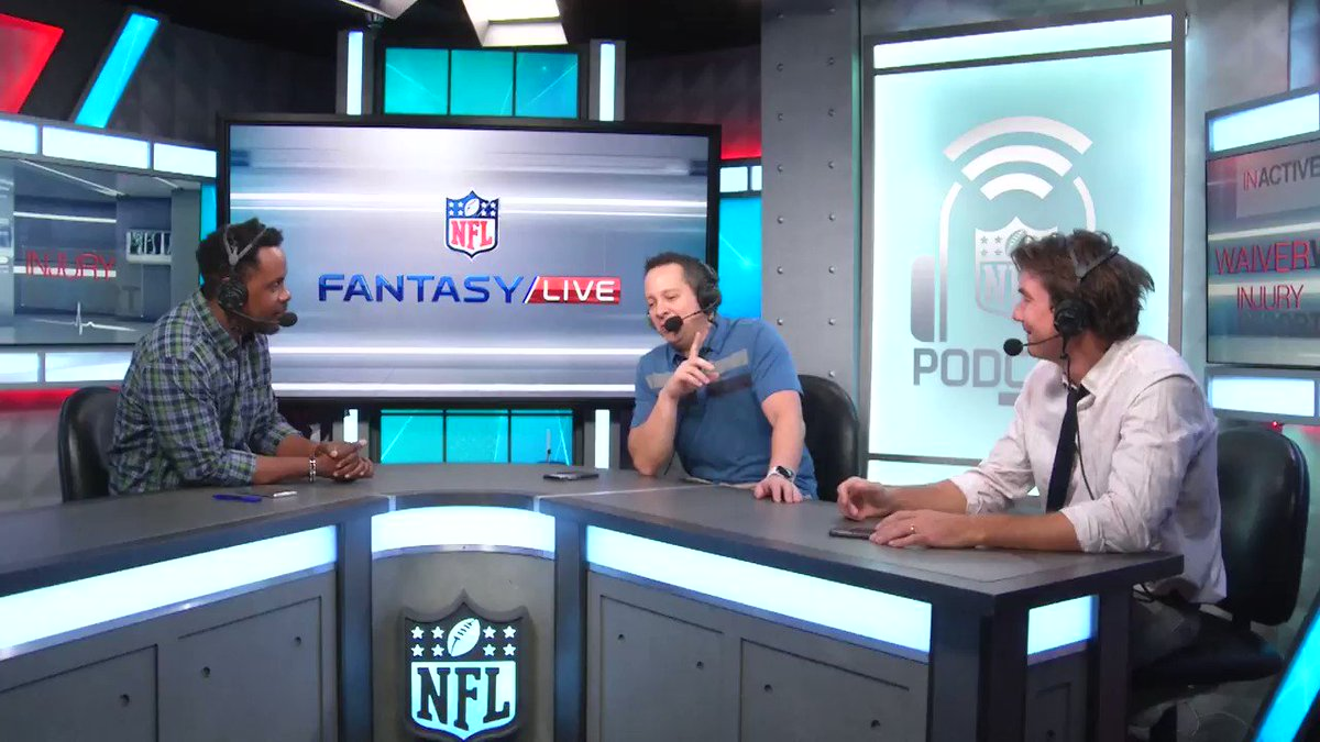 Special guest @MrJerryOC joins the Fantasy Live Podcast with @MarcasG & @Michael_Fabiano and jokes why his fantasy football strategy is bargain hunting! Listen to the full show here: bit.ly/2pXL6Oc