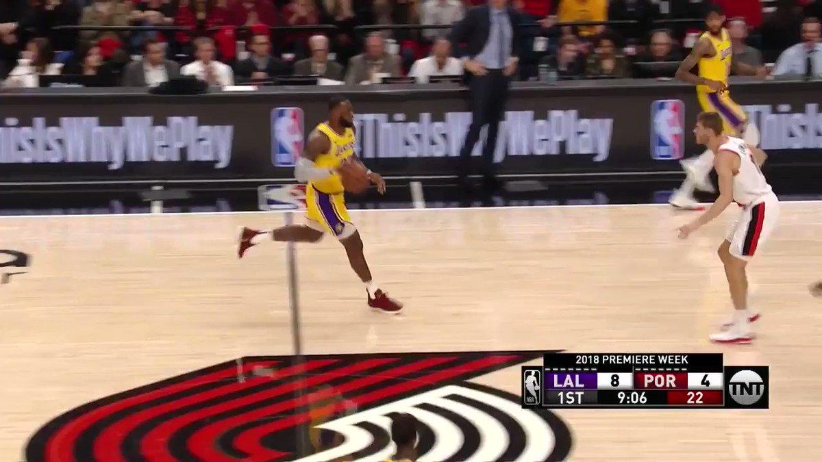 SHEEEESH LEBRON 😳 (via @NBA)