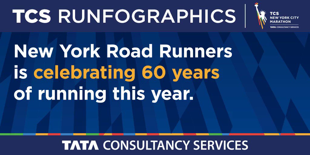 🎊🎉Shoutout to all the runners who are celebrating their 60th with us at this years #TCSNYCMarathon. This runfographic was powered by: Tata Consultancy Services