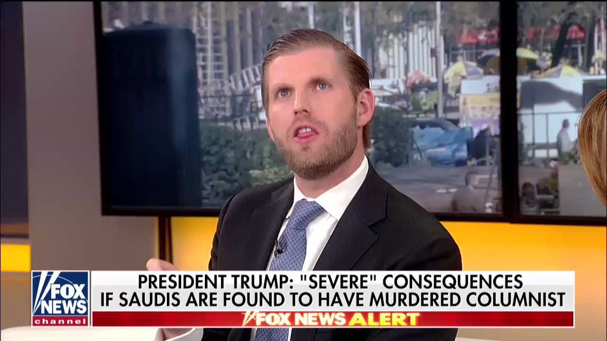 .@EricTrump: The amount that this is going to cost Saudi Arabia is not even quantifiable. #Outnumbered https://t.co/vAheOghSpC
