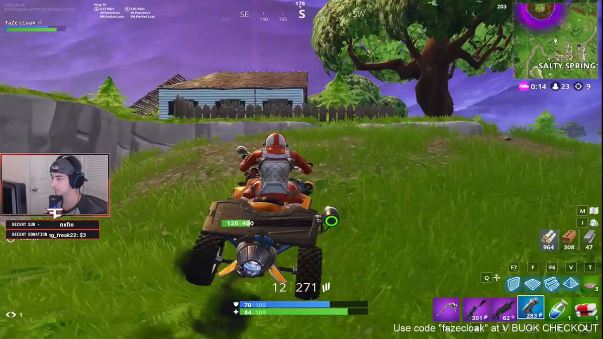 What would you do if this happened to you? #Fortnite via twitch.tv/cloakzy