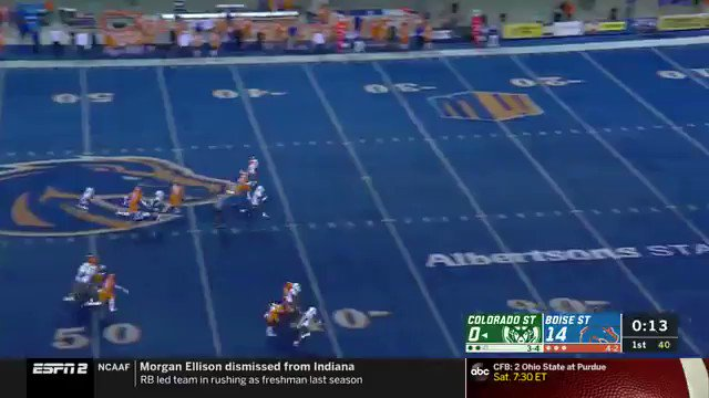 Just like Boise State drew it up!