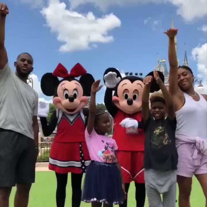 Whole squad practicing for the big game. (📍@WaltDisneyWorld)