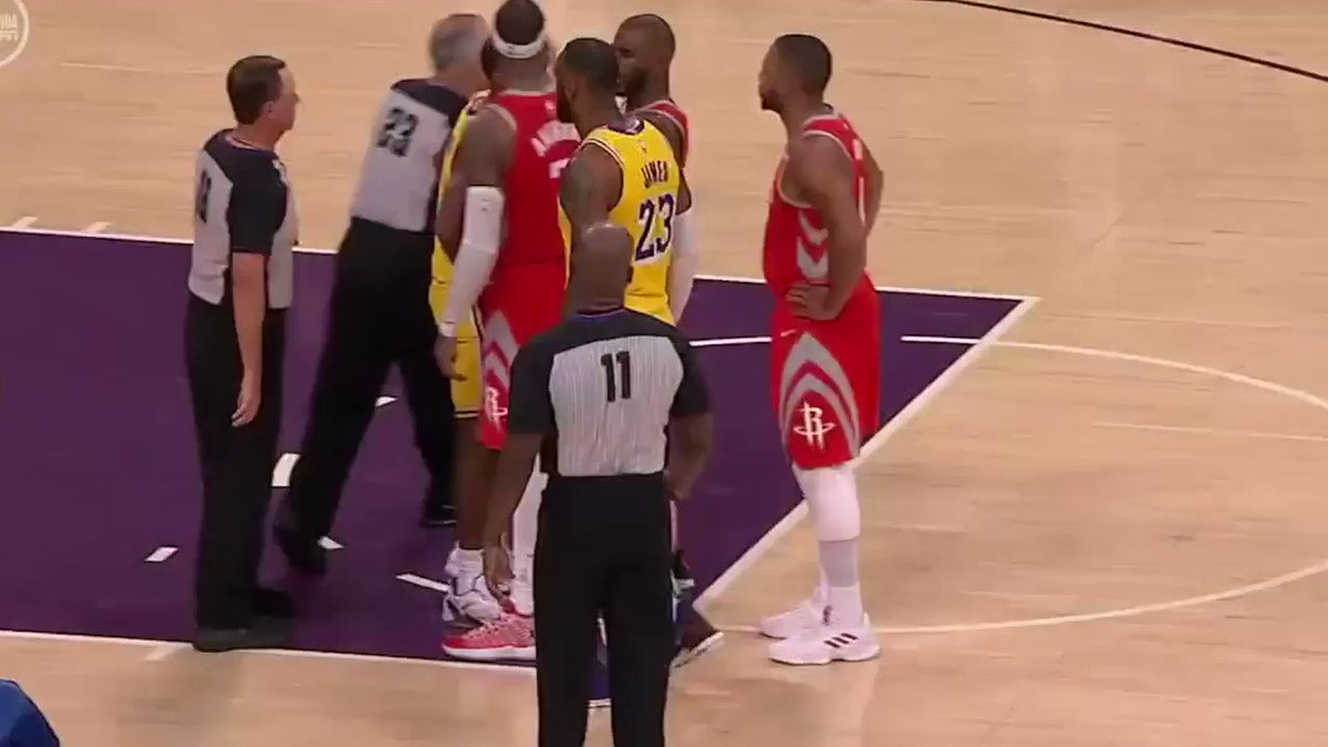 Chris Paul, Brandon Ingram and Rajon Rondo have been ejected after throwing blows in L.A. https://t.co/s28TT81eys
