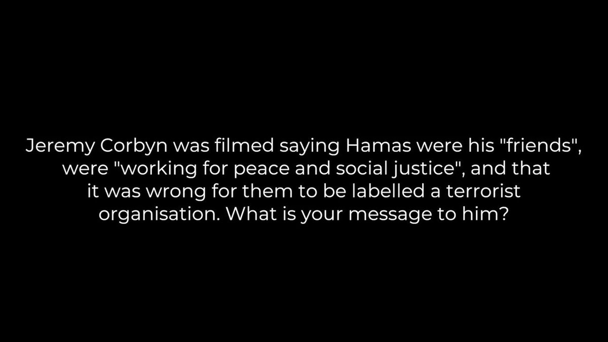 MESSAGE TO JEREMY CORBYN - Son of Hamas leader sends message to @jeremycorbyn re-his support for Hamas. (Full interview comes out on J-TV tomorrow )