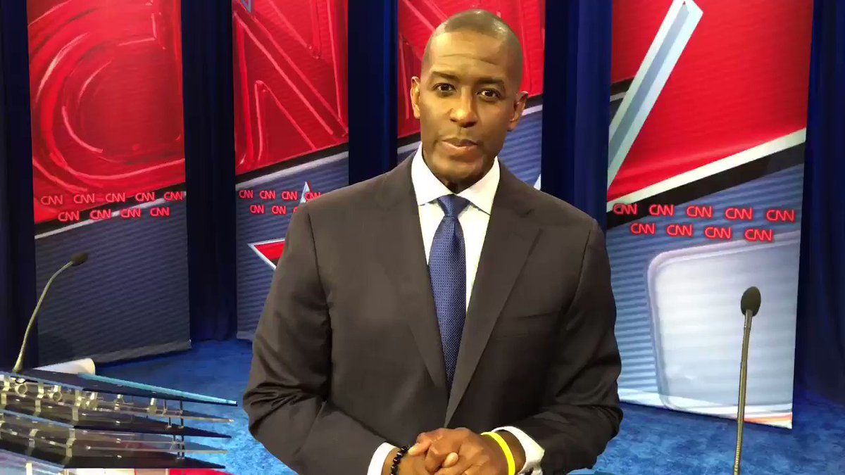 Just wrapped the #FLGovDebate on @CNN. If I made you proud, help us #BringItHome at https://t.co/fm0ODFFGWU https://t.co/L9TMbbzAFU