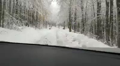 Beautiful winter scenes in Prati di Tivo, Abruzzo, central Italy this afternoon 22nd October. Video: Umberto Ambrosii #severeweather #extremeweather #snowfall