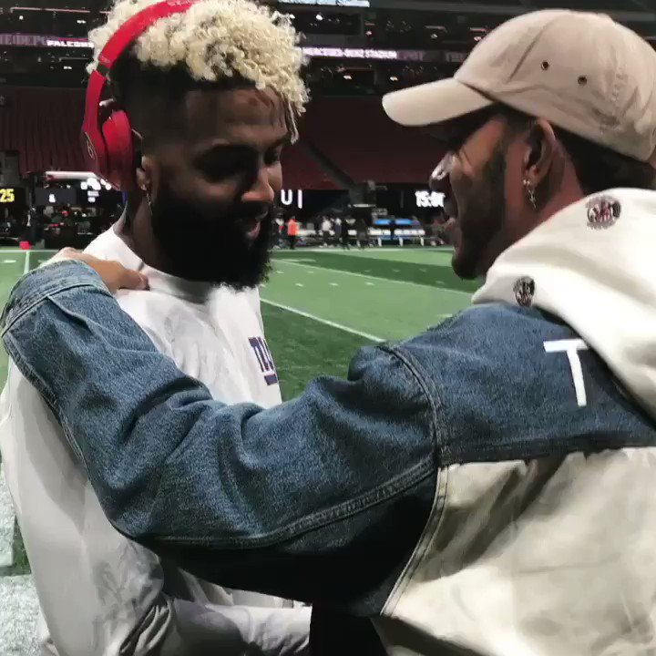 Hanging with my bro @obj before the big game 🏈🔥 #obj #nfl