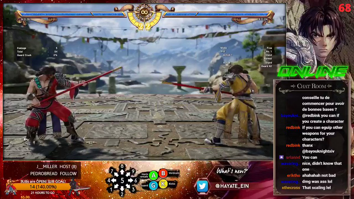 Recent finding with #Kilik in Evil Mode. 66B will rebounce in air combo for a ring out from the middle of the ring !! This combo is deadly : 88B > AB > SC 66B6 > MO B+K B K ! #SOULCALIBURVI #SoulCalibur6