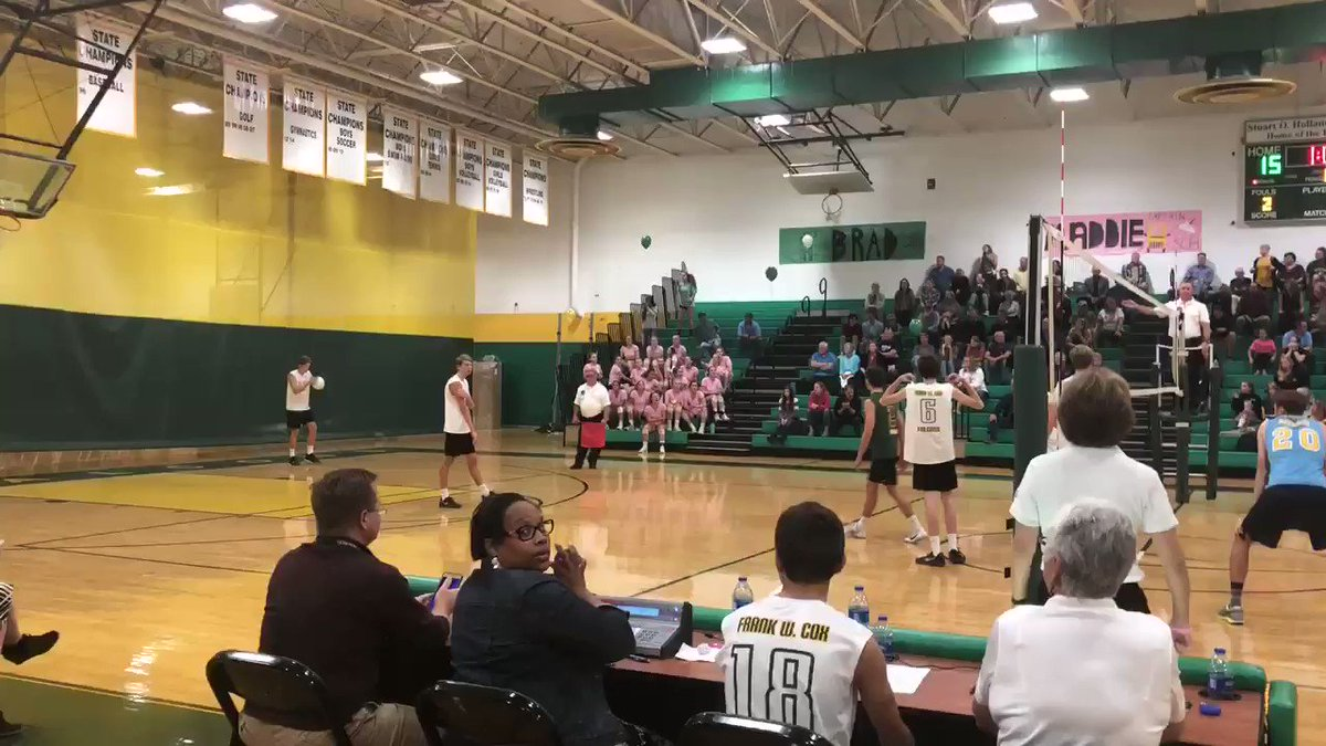 Great match by both teams! Way to go @cox_boys_vball securing a W.