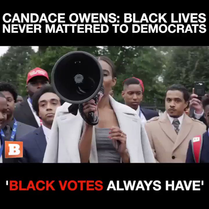 """They told us the Republican & Democrat Party switched. That NEVER happened."" ""If the Dems don't get more than 85% of the black votes they are FINISHED. They relied upon us.."" ""Black lives have never ever EVER mattered tobthe Democrat Party. Black VOTES always have.""CANDACE OWENS"
