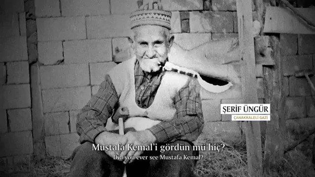 - Mustafa Kemali gördün mü hiç?  - Gördüm. - Neler söyledi? - Korkmayın... Türkün gücüyle ezin dedi. Biz de yaptık... #29Ekim  🇹🇷