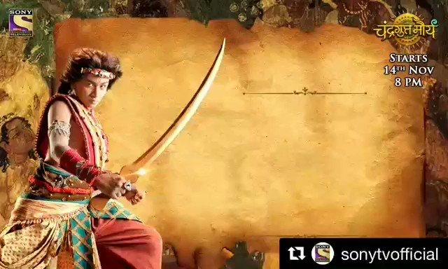 Another show all set to create history ✌😍 #ChandraGuptaMaurya from november 14  . @sktorigins @sonytvofficial @MalviyaKartikey @saurabhraajjain