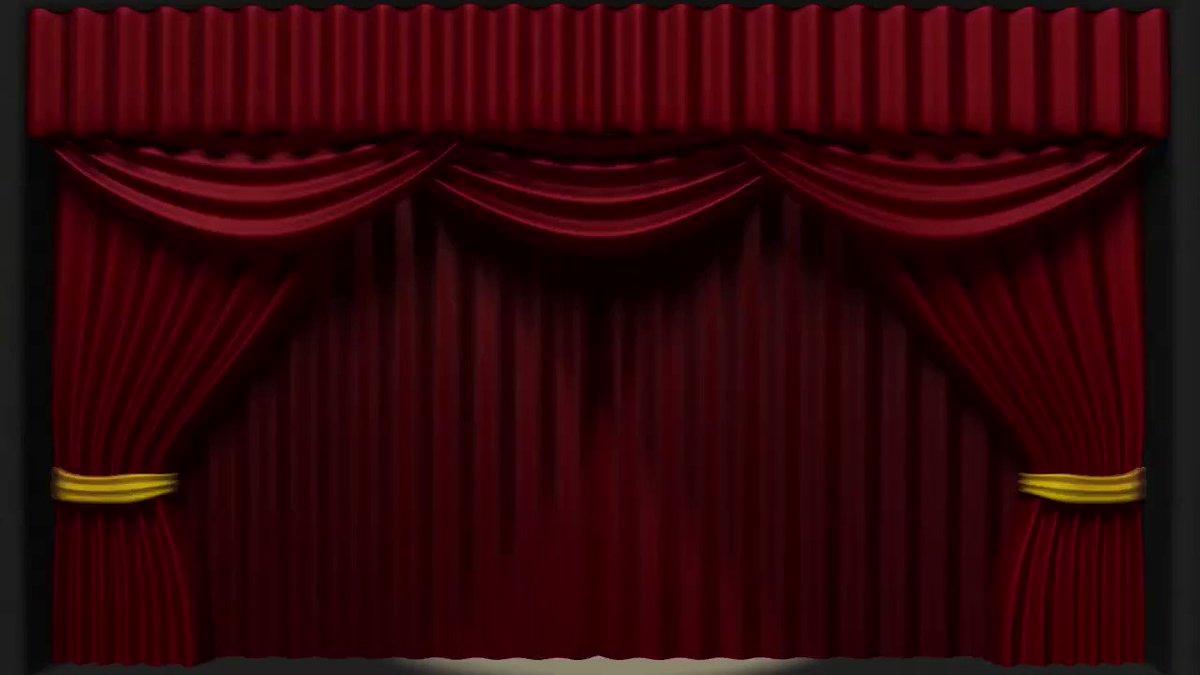 Анимация занавеса открывающегося картинки