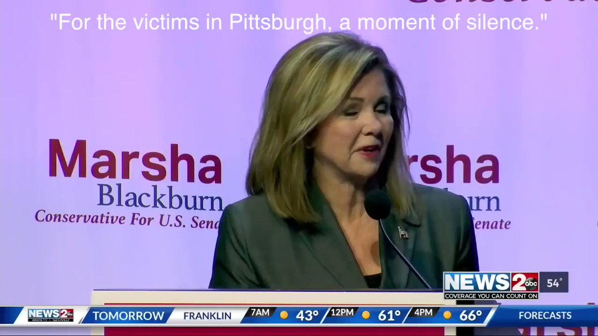 .@MarshaBlackburn wanted to run an ad showing the disgraceful actions of the Mob interrupting a moment of silence for the #PittsburghSynagogue victims  Google said no Here's the ad I can see why they wouldn't want people to see what they get w/ a vote for their Democrats