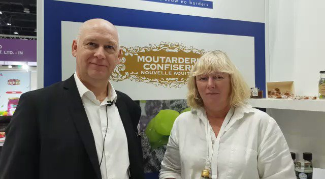 """Hurry up! Meet Nathalie Courrèges the new leader of the new-Aquitaine #Confectionery mustard, strives to optimise the company's core values: quality & """"savoir-faire"""" #Lamoutarderie find the team @SpecialityFP #FrenchPavilion Hall 3 Booth F3-10-D #MadeInFrance @Gulf_host  #InfoBF"""